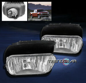 2003 2006 Chevy Silverado 2002 Avalanche Bumper Chrome Fog Light Lamp bulb Set