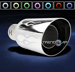 Universal 4 7 Color Led Exhaust Muffler Tip For 240sx Altima Frontier Maxima