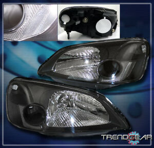 2001 2002 2003 Honda Civic 2 4dr Crystal Headlight Lamp Jdm Black Dx Ex Gx Hx Lx