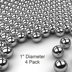 Four 1 Inch G25 Precision 440 Stainless Steel Bearing Balls