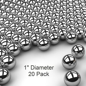 Twenty 20 1 Inch G25 Precision 440 Stainless Steel Bearing Balls