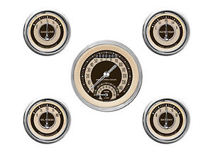 Classic Instruments Nostalgia Vt Series 5 Gauge Set Nt35shc Speedo Tach Fuel Oil