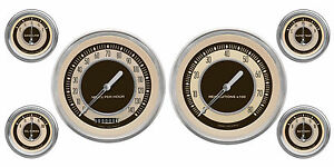 Classic Instruments Nostalgia Vt Series 6 Gauge Set Nt51slc Speedo Tach Fuel Oil