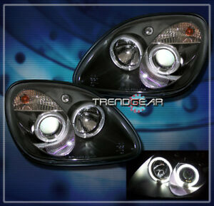 1998 2004 Mercedes Benz R170 Slk Halo Projector Headlights Black 2001 2002 2003