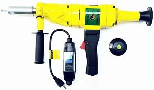 Hand Held Core Drill Dry Includes 2 2 2 2 5 Laser Welded Dry Core Bits
