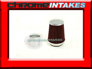 Red Universal 2 75 Small Air Filter For Bmw Air Intake pipe