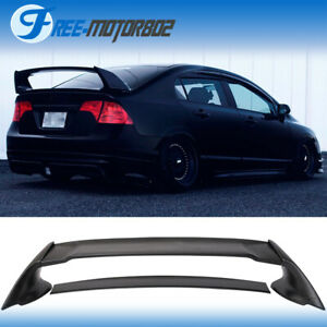 For 06 11 Honda Civic 4door Sedan Mu Rear Trunk Spoiler Wing Abs 06 07 08 09