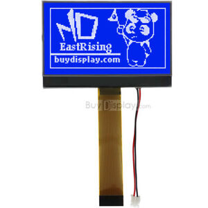 2 9 128x64 Blue Cog Lcd Module Graphic Display st7565 W tutorial connector