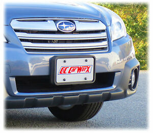 Front License Bracket By C c Carworx For 2013 2014 Subaru Outbackwagon Ow 13 fp