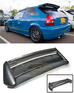 For 96 00 Civic Hatchback Seeker V2 Style Carbon Fiber Rear Roof Spoiler Wing