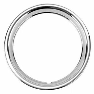 14 Ford Ribbed Stainless Steel Wheel Trim Beauty Ring Each