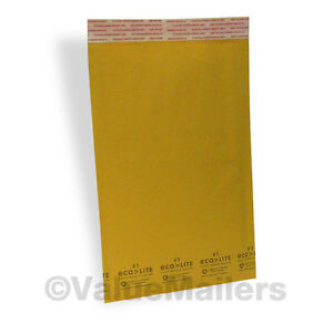 100 1 Kraft 7 25x12 Ecolite Bubble Mailers Padded Envelope 100 9x12 Clear Bags