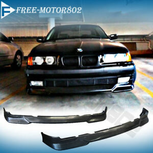 For 92 98 Bmw E36 3 Series 318 325 328 Front Bumper Lip Spoiler M Tech Style Pu