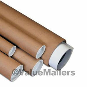 50 2 X 24 Kraft Poster Document Graphics Mailing Shipping Packing Tubes