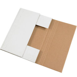 100 12 1 8 X 9 1 8 X 2 White Multi Depth Bookfold Mailer Book Box Bookfolds