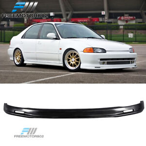 Front Bumper Lip Spoiler Bodykit Pp For 92 95 Honda Civic Eg Sedan Mug Style