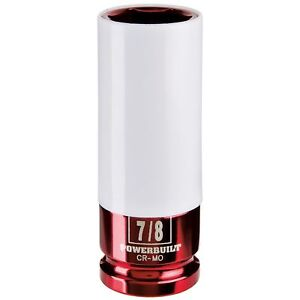 Powerbuilt 1 2 Inch Drive 7 8 Inch Lug Nut Socket W Sleeve Wheel Impact Socket