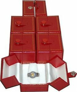 Lot Of 12 Very Elegant Red Snap Closure Ring Boxes