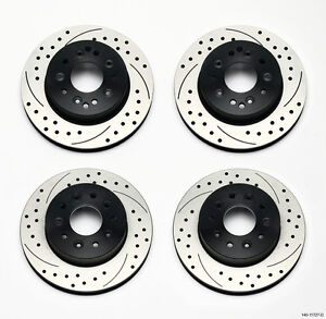 Wilwood Disc Rotor Kit For 65 82 Chevy Corvette C 2 C 3 Front Rear Drilled