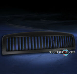 1994 2001 Dodge Ram 1500 2002 2500 3500 Upper Hood Vertical Grille Insert Black