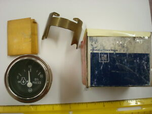 Vintage Delco Oil Pressure Gauge 06464923 6464923 nos As Pictured