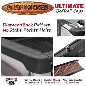 59513 Bushwacker Ultimate Black Bed Rail Caps Dodge Ram 6 4 Bed 2002 2008