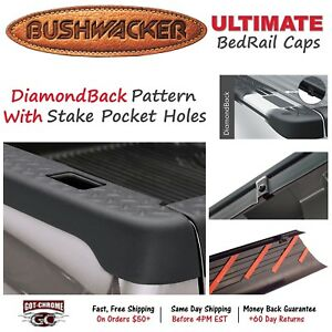 59501 Bushwacker Ultimate Black Bed Rail Caps Dodge Ram 8 Bed 1994 2001