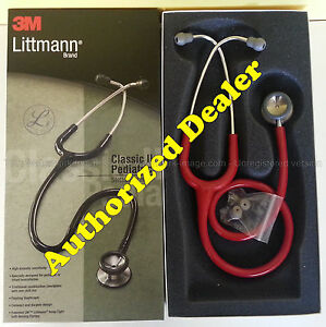 2113r 3m Littmann Classic Ii Pediatric Stethoscope Red All Colors Available