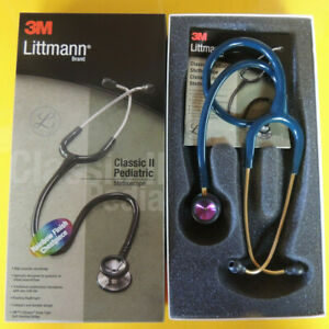 2153 3m Littmann Classic Ii Pediatric Stethoscope Rainbow Finish Caribbean Bl