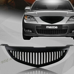 For 2004 2006 Mazda 3 Sedan Vertical Style Abs Plastic Front Bumper Grille Grill