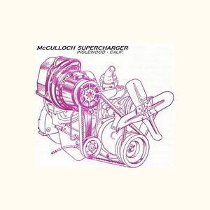 Mcculloch Paxton Supercharger Rebuild Serv Repair Manual Studebaker Shelby Vs 57