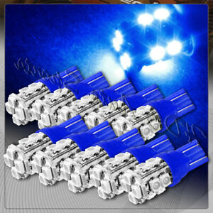 10x 12 Smd T10 194 12v Interior Instrument Panel Gauge Replacement Bulbs Blue