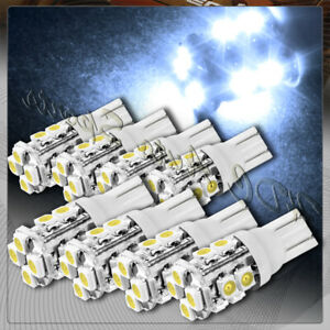 8x 12 Smd T10 194 12v Interior Instrument Panel Gauge Replacement Bulbs White