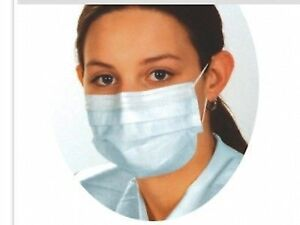 Disposable Looped 3ply Procedure Face Masks Non Tied Protectors Surgical Dust