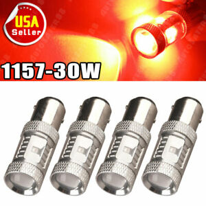 4x 1157 Bay15d Red 3030 Chipset High Power 30w Non Polarity Led Light Bulbs 1142
