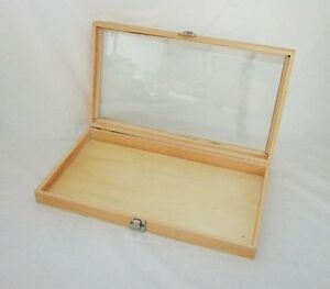 Natural Wood Glass Top Display Case