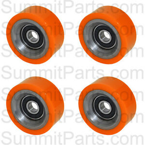 4pk High Quality Orange Drum Roller Bearing For Huebsch sq ipso 70298701p