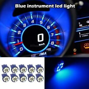 10x New Blue 6 Smd Led 168 194 T10 Wedge Instrument Panel Light Bulb For Ford