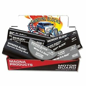 NEW MOTOR GUARD AP-3 ULTIMATE SANDING BLOCKS (ASSORTED 8-PACK) MADE IN USA