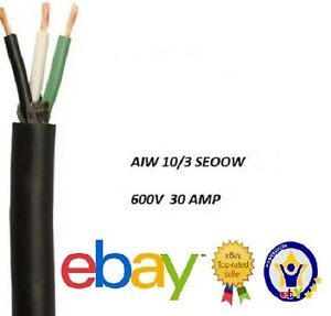 Wire 10 Gauge 250 Feet 10 3 seoow So 600v 30amp Electric Cord Aiw