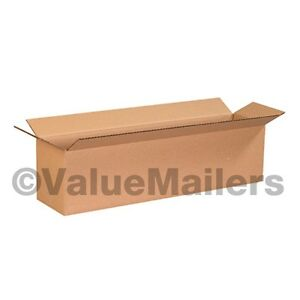 100 12x4x4 Cardboard Shipping Boxes Cartons Packing Moving Mailing Box