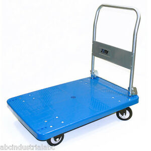Platform Utility Cart 660lbs Folding Foldable Dolly Hand Truck Rubber Caster