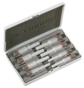 Facom Micro Tech 8 Piece Screwdriver Set Slotted Phillips Aef J3