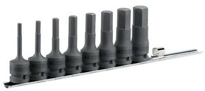 Facom 8 Piece Rack Set Of 1 2 Drive Metric Bit Hexagon Socket Heads Nshm J8