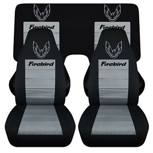 Fits 1982 1992 Pontiac Firebird Car Seat Covers Canvas Front Rear 3 Pieces