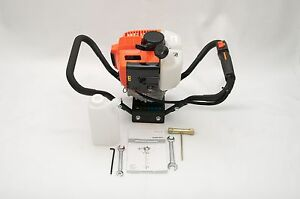 Hand held Post Hole Digger Earth Auger head Only 43cc 1 75hp Epa certified