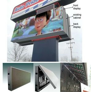 Led Programmable Electronic Sign Billboard For Store Front 4 x7 Pitch 12mm