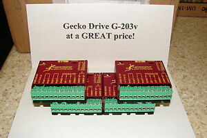 Five Geckodrive G 203v One Year Factory Warranty Steppr Motor Drivers W extras