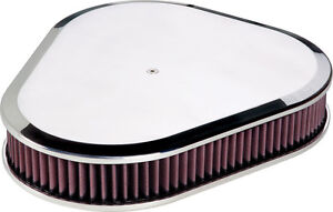 Billet Specialties Polished Aluminum Air Cleaner Triangle Plain Smooth 15729
