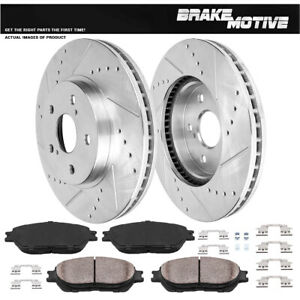Front Drilled And Slotted Brake Rotors Ceramic Pads Toyota Camry Avalon Sienna